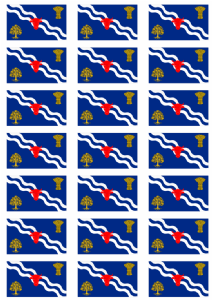 Oxfordshire Flag Stickers - 21 per sheet
